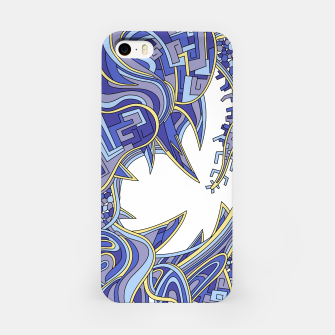 Thumbnail image of Wandering Abstract Line Art 39: Blue iPhone Case, Live Heroes