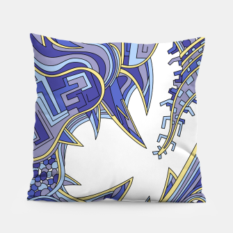 Thumbnail image of Wandering Abstract Line Art 39: Blue Pillow, Live Heroes