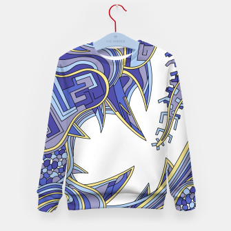 Thumbnail image of Wandering Abstract Line Art 39: Blue Kid's sweater, Live Heroes