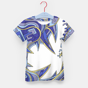 Thumbnail image of Wandering Abstract Line Art 39: Blue Kid's t-shirt, Live Heroes