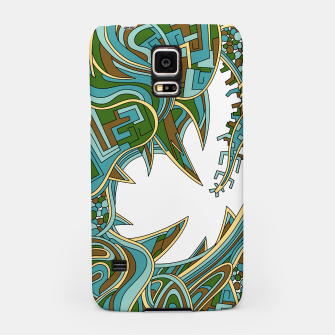 Thumbnail image of Wandering Abstract Line Art 39: Green Samsung Case, Live Heroes