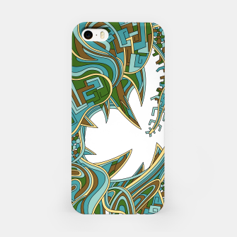 Thumbnail image of Wandering Abstract Line Art 39: Green iPhone Case, Live Heroes