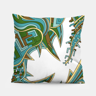 Thumbnail image of Wandering Abstract Line Art 39: Green Pillow, Live Heroes