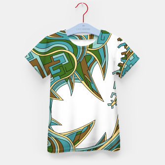 Thumbnail image of Wandering Abstract Line Art 39: Green Kid's t-shirt, Live Heroes