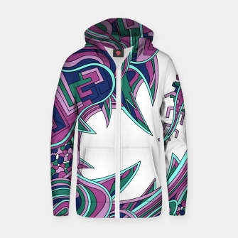 Thumbnail image of Wandering Abstract Line Art 39: Pink Zip up hoodie, Live Heroes