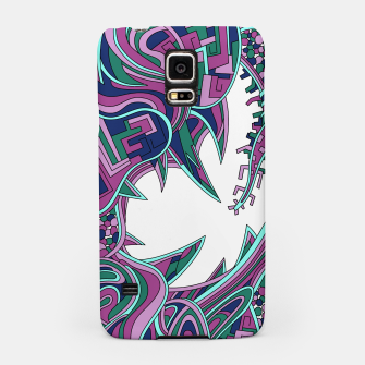 Thumbnail image of Wandering Abstract Line Art 39: Pink Samsung Case, Live Heroes