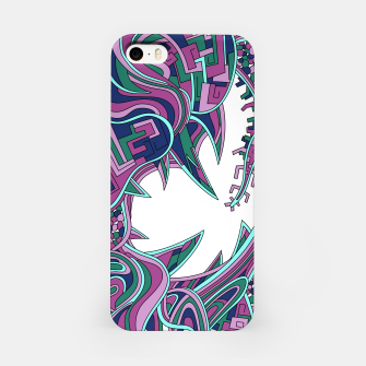 Thumbnail image of Wandering Abstract Line Art 39: Pink iPhone Case, Live Heroes