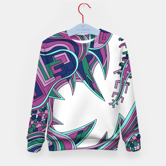 Thumbnail image of Wandering Abstract Line Art 39: Pink Kid's sweater, Live Heroes