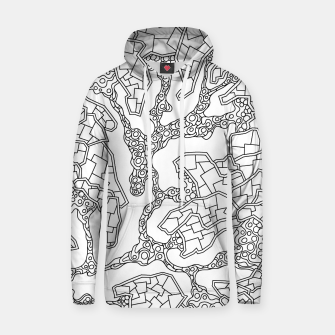 Thumbnail image of Wandering Abstract Line Art 40: Black & White Hoodie, Live Heroes