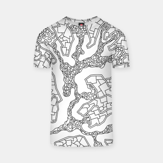Thumbnail image of Wandering Abstract Line Art 40: Black & White T-shirt, Live Heroes