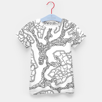 Thumbnail image of Wandering Abstract Line Art 40: Black & White Kid's t-shirt, Live Heroes