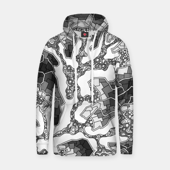 Thumbnail image of Wandering Abstract Line Art 40: Grayscale Hoodie, Live Heroes