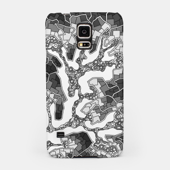 Thumbnail image of Wandering Abstract Line Art 40: Grayscale Samsung Case, Live Heroes