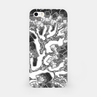 Thumbnail image of Wandering Abstract Line Art 40: Grayscale iPhone Case, Live Heroes
