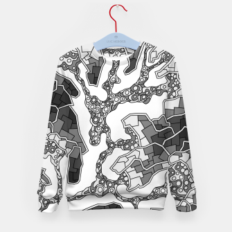 Thumbnail image of Wandering Abstract Line Art 40: Grayscale Kid's sweater, Live Heroes