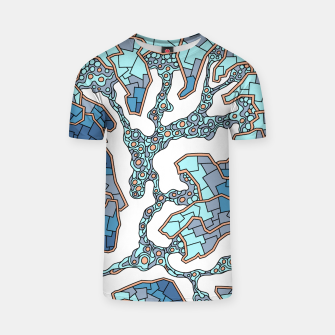 Thumbnail image of Wandering Abstract Line Art 40: Blue T-shirt, Live Heroes