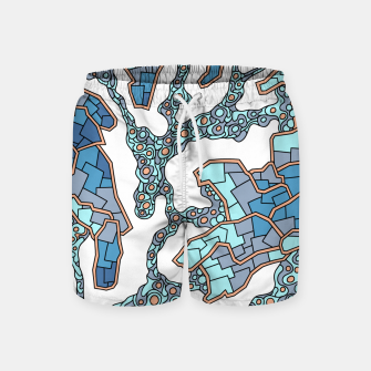 Thumbnail image of Wandering Abstract Line Art 40: Blue Swim Shorts, Live Heroes