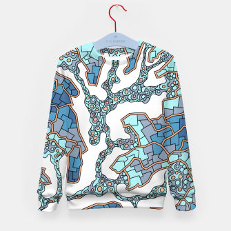 Thumbnail image of Wandering Abstract Line Art 40: Blue Kid's sweater, Live Heroes