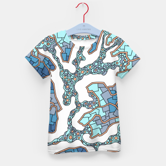 Thumbnail image of Wandering Abstract Line Art 40: Blue Kid's t-shirt, Live Heroes
