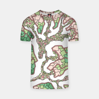 Thumbnail image of Wandering Abstract Line Art 40: Green T-shirt, Live Heroes