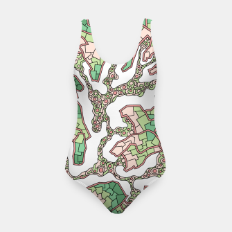 Thumbnail image of Wandering Abstract Line Art 40: Green Swimsuit, Live Heroes