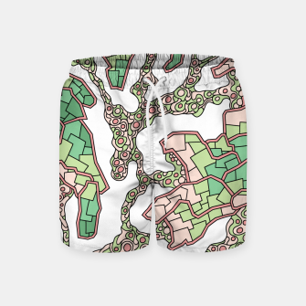 Thumbnail image of Wandering Abstract Line Art 40: Green Swim Shorts, Live Heroes