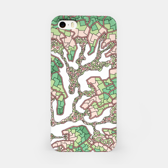 Thumbnail image of Wandering Abstract Line Art 40: Green iPhone Case, Live Heroes