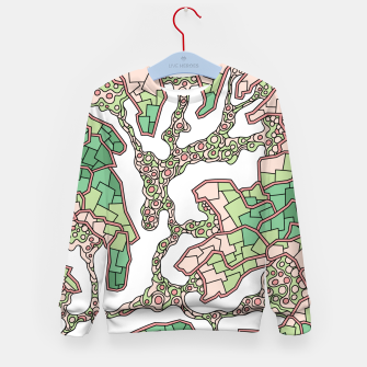 Thumbnail image of Wandering Abstract Line Art 40: Green Kid's sweater, Live Heroes