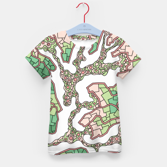 Thumbnail image of Wandering Abstract Line Art 40: Green Kid's t-shirt, Live Heroes