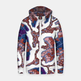 Thumbnail image of Wandering Abstract Line Art 40: Purple Zip up hoodie, Live Heroes