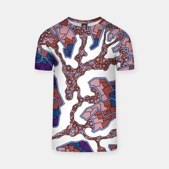 Thumbnail image of Wandering Abstract Line Art 40: Purple T-shirt, Live Heroes