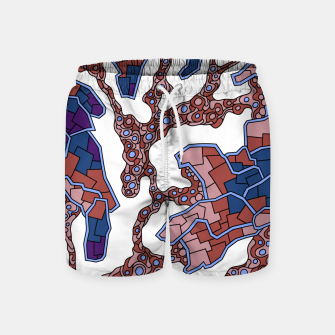 Thumbnail image of Wandering Abstract Line Art 40: Purple Swim Shorts, Live Heroes
