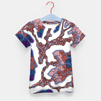 Thumbnail image of Wandering Abstract Line Art 40: Purple Kid's t-shirt, Live Heroes