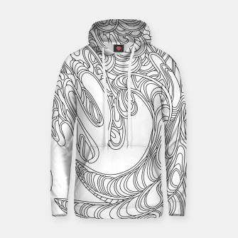 Thumbnail image of Wandering Abstract Line Art 41: Black & White Hoodie, Live Heroes