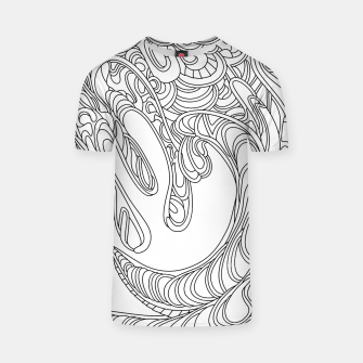 Thumbnail image of Wandering Abstract Line Art 41: Black & White T-shirt, Live Heroes