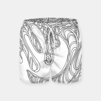 Thumbnail image of Wandering Abstract Line Art 41: Black & White Swim Shorts, Live Heroes