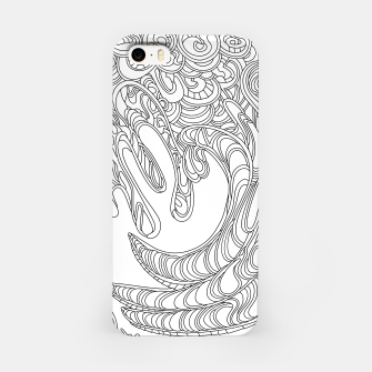 Thumbnail image of Wandering Abstract Line Art 41: Black & White iPhone Case, Live Heroes