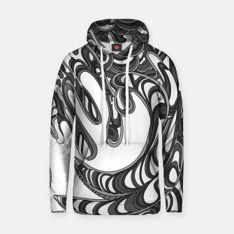 Thumbnail image of Wandering Abstract Line Art 41: Grayscale Hoodie, Live Heroes