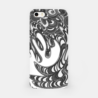 Thumbnail image of Wandering Abstract Line Art 41: Grayscale iPhone Case, Live Heroes