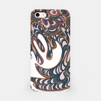 Thumbnail image of Wandering Abstract Line Art 41: Orange iPhone Case, Live Heroes