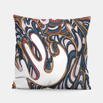 Thumbnail image of Wandering Abstract Line Art 41: Orange Pillow, Live Heroes