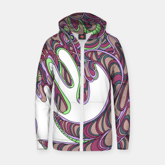 Thumbnail image of Wandering Abstract Line Art 41: Pink Zip up hoodie, Live Heroes