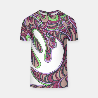 Thumbnail image of Wandering Abstract Line Art 41: Pink T-shirt, Live Heroes