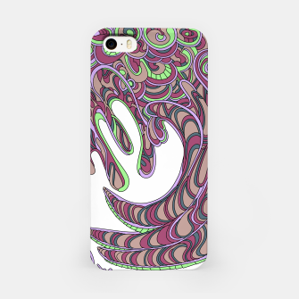 Thumbnail image of Wandering Abstract Line Art 41: Pink iPhone Case, Live Heroes