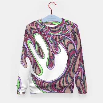 Thumbnail image of Wandering Abstract Line Art 41: Pink Kid's sweater, Live Heroes