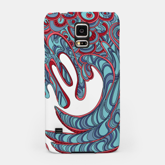 Thumbnail image of Wandering Abstract Line Art 41: Blue Samsung Case, Live Heroes