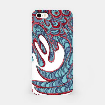 Thumbnail image of Wandering Abstract Line Art 41: Blue iPhone Case, Live Heroes