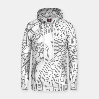 Thumbnail image of Wandering Abstract Line Art 42: Black & White Hoodie, Live Heroes
