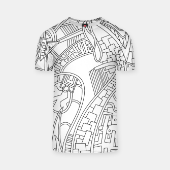 Thumbnail image of Wandering Abstract Line Art 42: Black & White T-shirt, Live Heroes