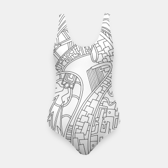Thumbnail image of Wandering Abstract Line Art 42: Black & White Swimsuit, Live Heroes